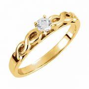 0.25 Carat Infinity Symbol Engagement Ring, 14K Gold