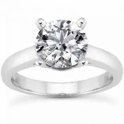 0.75 Carat Classic Diamond Solitaire Engagement Ring White Gold