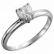 0.75 Carat Heart-Shaped Diamond Solitaire Ring
