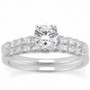 0.67 Carat Classic Diamond Engagement Ring Set