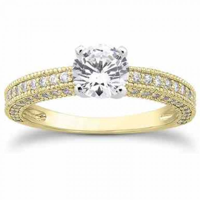 Carat Antique Style Diamond Engagement