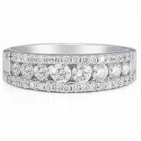 1.00 Carat Diamond Flourish Band in 14K White Gold