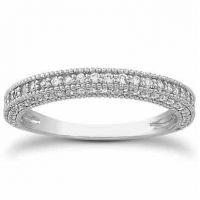 1/2 Carat Antique Style Diamond Wedding Band