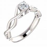 0.75 Carat Diamond Infinity Weave Engagement Ring