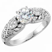 0.81 Carat Paisley Swirl Diamond Engagement Ring