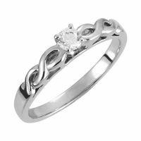 1/4 Carat Diamond Infinity Knot Engagement Ring