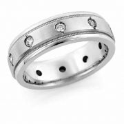 10-Stone Diamond Wedding Band Ring for Men