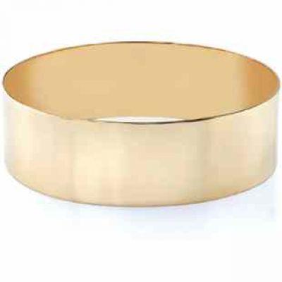 14k Gold Flat Bangle Bracelet