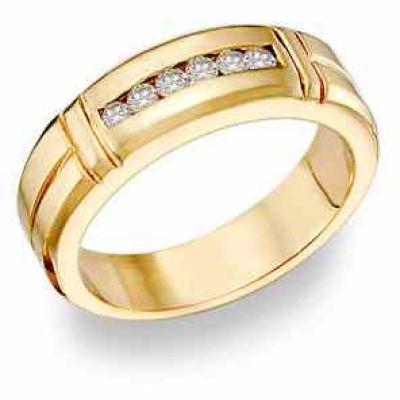 14K Gold Ladies  0.45 Carat Diamond Wedding Band Ring -  - DR51-12