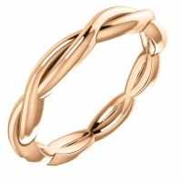 14K Rose Gold Braided Infinity Wedding Band Ring
