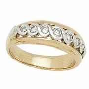14K Two-Tone Gold 1/2 Carat Infinity Diamond Wedding Band