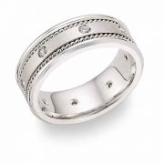 Platinum 1/4 Carat Weight Diamond Wedding Band