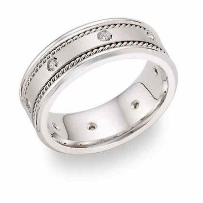 Platinum 1/4 Carat Weight Diamond Wedding Band -  - PLAT-D-E