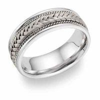 Platinum Braided Designer Wedding Band Ring