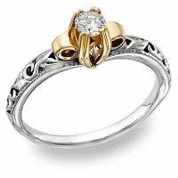 1 Carat Art Deco White Topaz Engagement Ring