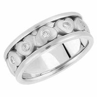 Be Mine Diamond Heart Wedding Band, 14K White Gold