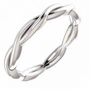 Platinum Woven Infinity Wedding Band Ring