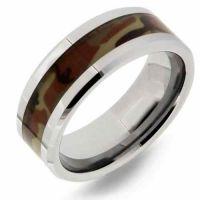 Desert Camo Tungsten Wedding Band Ring for Men