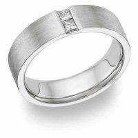 Husband and Wife Diamond Platinum Wedding Band