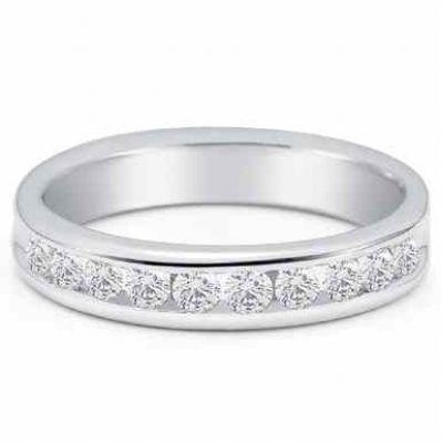 Men s 3/4 Carat Diamond Wedding Band -  - SHR-S53-5