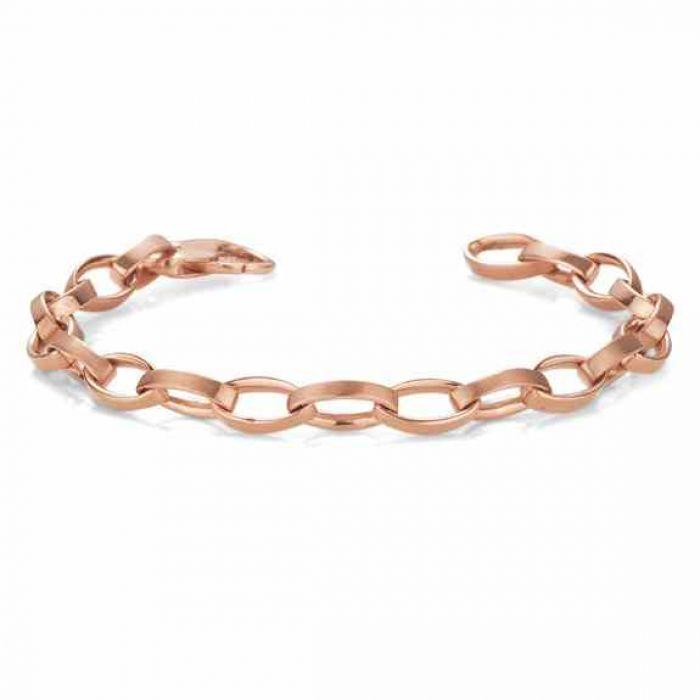 Elliptical Link Bracelet 14k Rose Gold