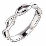 Women's Infinity Knot Wedding Band Ring