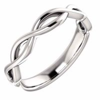 Men's Infinity Knot Wedding Band Ring