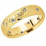 Paisley Diamond Wedding Band in 14K Gold