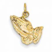 Praying Hands Pendant in 14K Gold