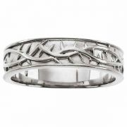 Silver Crown of Thorns Band Ring