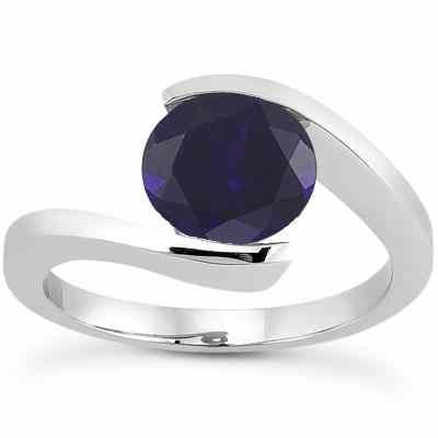 Tension Set Sapphire Engagement Ring -  - US-ENR7806SPW