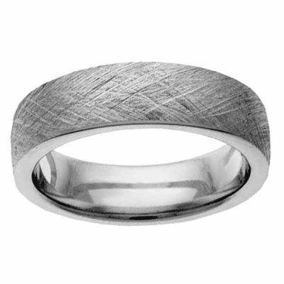 White Gold Textured Wedding Band Ring -  - NDLS-320W