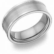 Titanium Brushed Wedding Band Ring