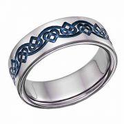 Titanium Celtic Heart Love Knot Wedding Band