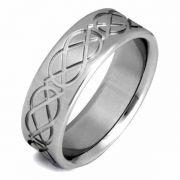 Titanium Celtic Knot Wedding Band Ring