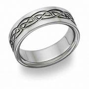 Titanium Celtic Wedding Band Ring