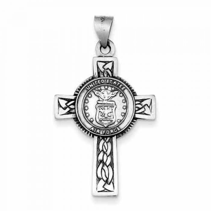 Orthopaedic Prayer Rug: Necklaces : United States Air Force Sterling Silver Cross