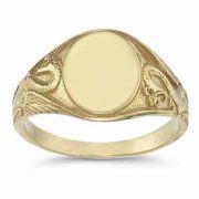 Welsh Dragon Signet Ring in 14K Gold