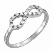 White Diamond Infinity Ring