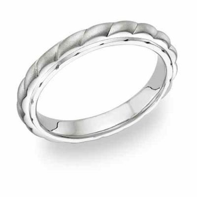 Women s Design Brushed Wedding Band Ring -  - WG-3