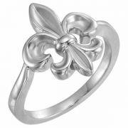 Women's Fleur-de-Lis Ring in Sterling Silver