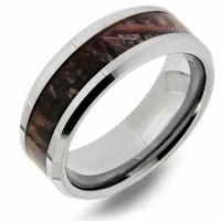Woodlands Camo Tungsten Wedding Band Ring