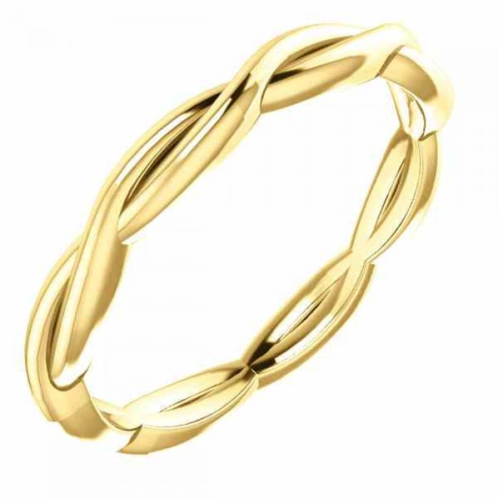 Infinity Wedding Band.Woven Infinity Wedding Band Ring In 14k Gold