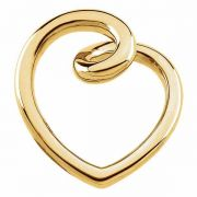 Yellow Gold Fashion Heart Slide Pendant