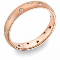 ZigZag Diamond Wedding Band, 14K Rose Gold