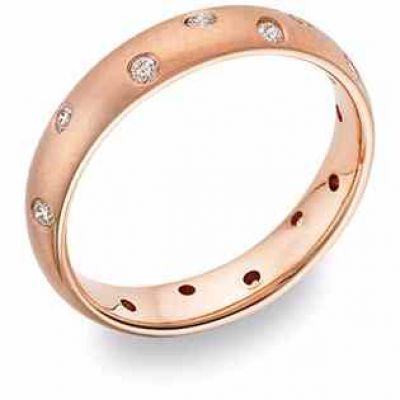 ZigZag Diamond Wedding Band, 14K Rose Gold -  - WEDSR-7R