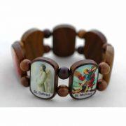 Brazilian Wood Bracelet, 7 Angels, Color Pictures