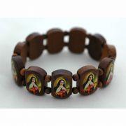 Brazilian Wood Bracelet, St. Teresa, 3/4 in. - (Pack of 2)