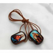Large Brazilian Wood Scapular - (Pack of 2)