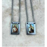 Brazilian Stainless Steel Scapular, Color Pictures